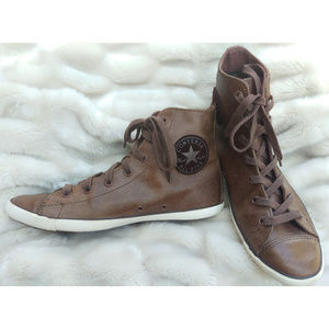 Vintage brown leather Converse All-Star Womens 7